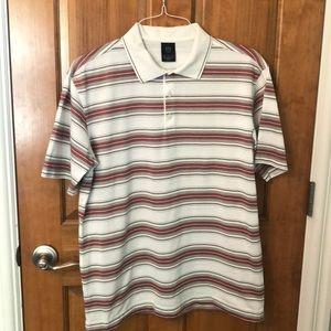 EUC Nike Golf Striped Polo Shirt
